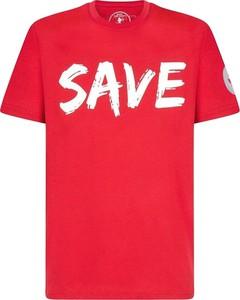 Czerwony t-shirt Save The Duck w młodzieżowym stylu