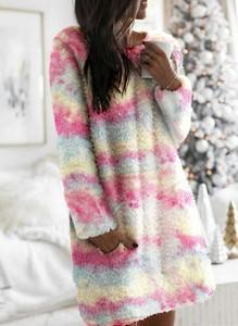 Sukienka Cikelly z długim rękawem z polaru mini