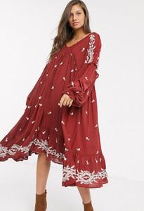 Czerwona sukienka Free People