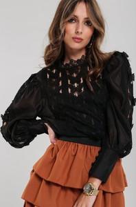 Bluzka Renee z długim rękawem z okrągłym dekoltem w stylu boho