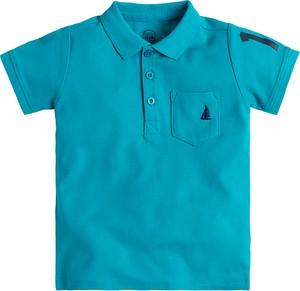 Niebieska koszulka dziecięca Cool Club z krótkim rękawem