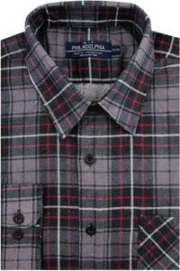 Koszula Philadelphia z tkaniny z długim rękawem