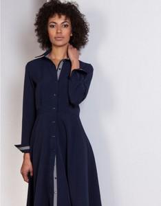 Niebieska sukienka Lanti midi