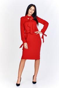 Sukienka Bien Fashion midi z długim rękawem