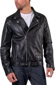 Czarna kurtka Jofama ze skóry krótka