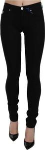 Czarne jeansy Versace Jeans w stylu casual