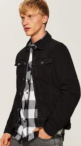Czarna kurtka House z jeansu