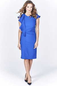 Niebieska sukienka Ptakmoda.com midi
