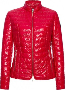 Czerwona kurtka Fan Leather krótka