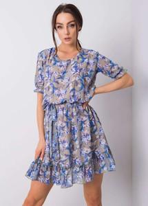 Sukienka Sheandher.pl z okrągłym dekoltem w stylu casual z krótkim rękawem