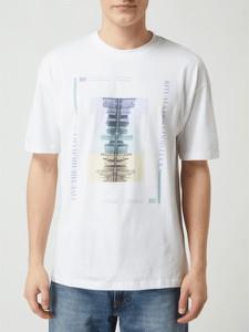 T-shirt Jack & Jones z bawełny w młodzieżowym stylu z nadrukiem