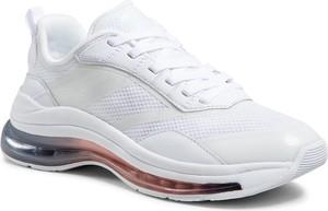 Buty sportowe Tommy Hilfiger ze skóry sznurowane z płaską podeszwą