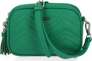 Zielona torebka David Jones ze skóry ekologicznej na ramię
