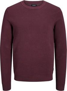 Czerwony sweter Jack & Jones w stylu casual z bawełny