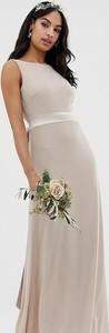 Brązowa sukienka Tfnc bez rękawów