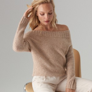 Różowy sweter Mohito w stylu casual