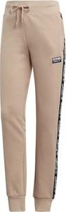 Spodnie sportowe Adidas z nadrukiem z dresówki