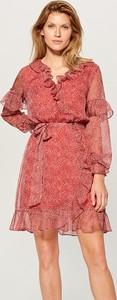 Sukienka Mohito mini z szyfonu