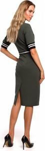 Sukienka MOE z krótkim rękawem midi