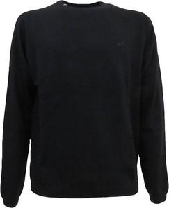 Czarny sweter Sun 68 z wełny w stylu casual