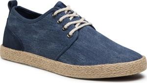 Buty letnie męskie Lanetti z tkaniny sznurowane