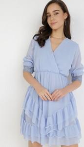Sukienka born2be z długim rękawem mini trapezowa