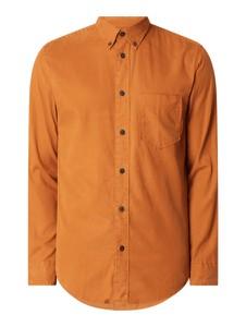 Pomarańczowa koszula Selected Homme z bawełny z długim rękawem