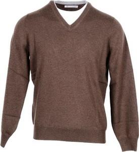 Sweter Brunello Cucinelli z kaszmiru w stylu casual
