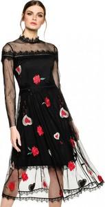 Czarna sukienka L'AF z szyfonu