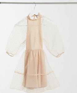 Sukienka Asos z długim rękawem z golfem