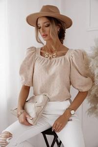 Bluzka Shopaholics Dream z krótkim rękawem z bawełny z okrągłym dekoltem