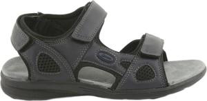 Czarne sandały American Club z płaską podeszwą ze skóry ekologicznej