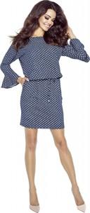 Sukienka Bergamo w stylu casual mini z długim rękawem