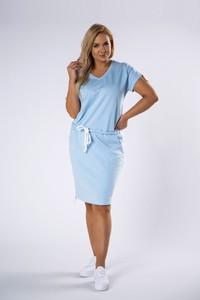 Sukienka Omnido.pl midi z krótkim rękawem