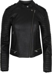 Czarna kurtka Pepe Jeans ze skóry ekologicznej
