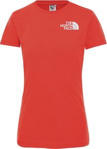 Bluzka The North Face w sportowym stylu z krótkim rękawem z bawełny