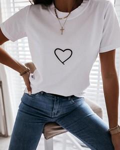 T-shirt Kendallme z bawełny z okrągłym dekoltem z krótkim rękawem