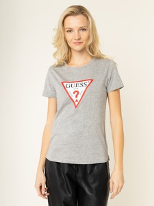 T-shirt Guess z okrągłym dekoltem w młodzieżowym stylu z krótkim rękawem