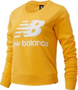 Bluza New Balance krótka w sportowym stylu z tkaniny