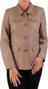 Brązowa kurtka POLSKA w stylu casual