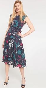 Granatowa sukienka QUIOSQUE midi