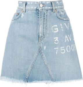 Niebieska spódnica Givenchy z jeansu w stylu casual