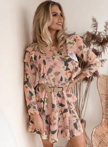 Sukienka SELFIEROOM w stylu casual mini z długim rękawem