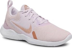 Fioletowe buty sportowe Nike sznurowane flex z płaską podeszwą