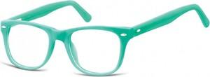 Sunoptic Okulary dziecięce zerówki Nerdy AK48B zielone