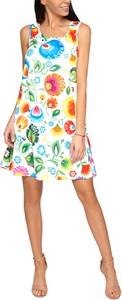 Sukienka Grupa Ventus mini z okrągłym dekoltem w stylu etno