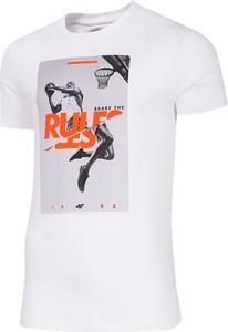T-shirt 4F z krótkim rękawem z nadrukiem z bawełny