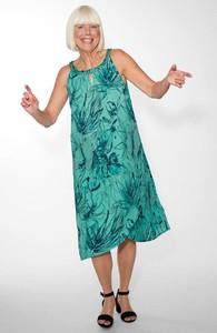 Turkusowa sukienka Cellbes w stylu casual
