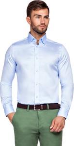 Koszula LANCERTO z bawełny z długim rękawem