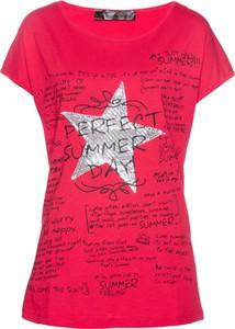 Różowy t-shirt bonprix bpc selection